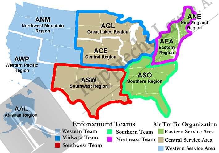 FAA Regions To Understand Drone Law Enforcement